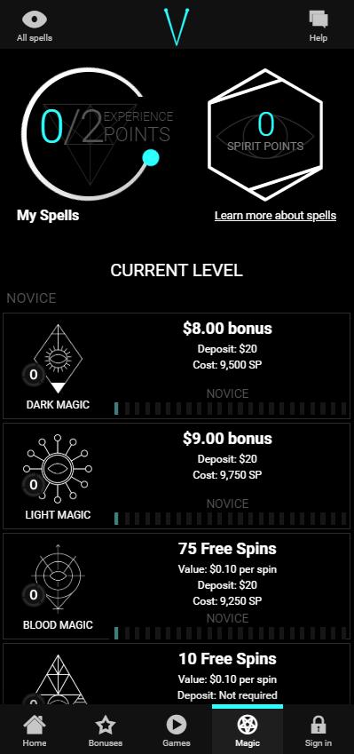 Voodoo Dreams unique bonus system