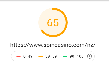 Spin casino review - mobile speed