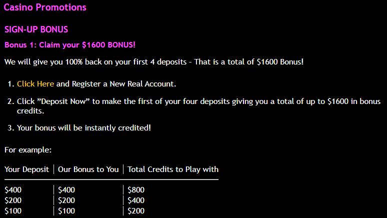 JackpotCity bonus plan