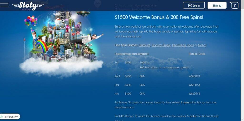 Sloty bonuses