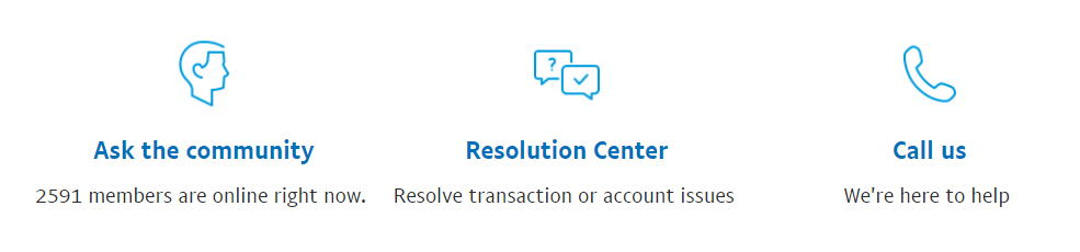 Ways to contact PayPal