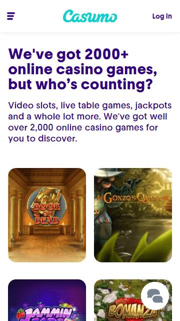 casumo casino review - mobile and app