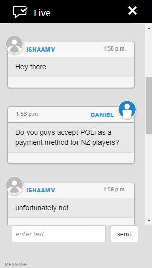 POLi unavailable on Jackpot City