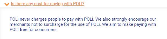 POLi fees