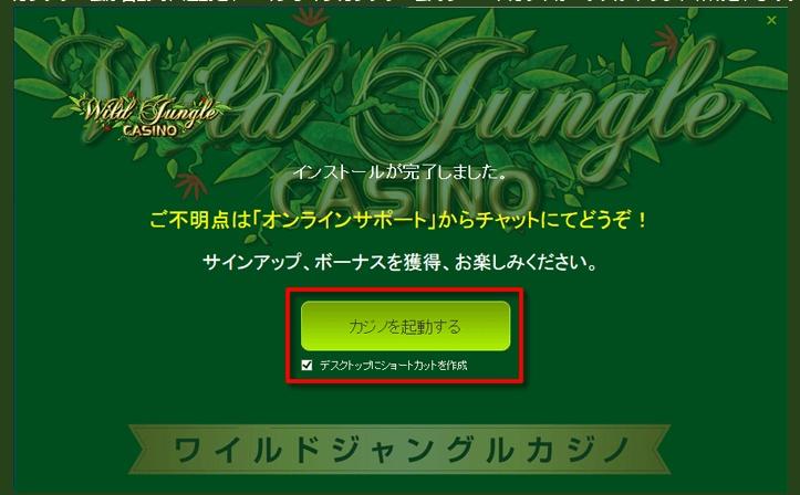ワイルドジャングルカジノ登録方法3