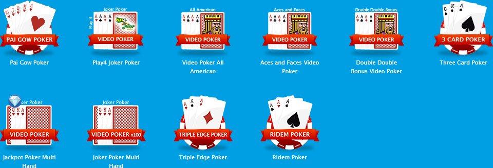 ベラジョンカジノのポーカーゲーム