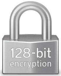 128 bit SSL encryption