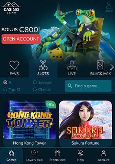 Casino Land Mobile Site