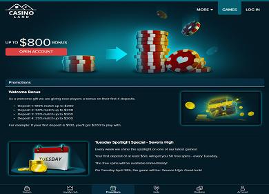 Casinoland Promotions