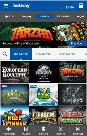 Betway Mobile Casino