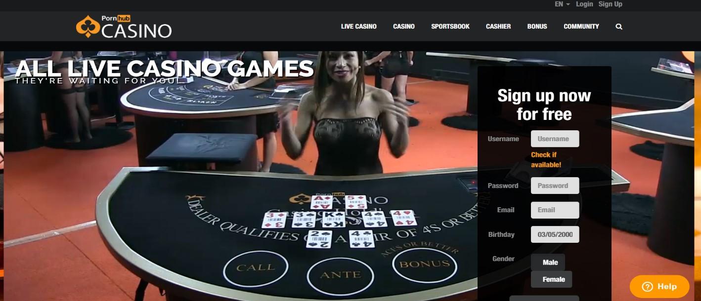 Pornhub casino Live Dealer games